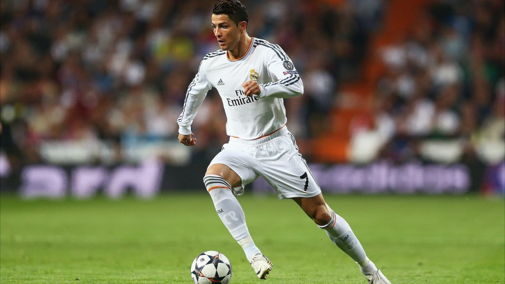 Cristiano Ronaldo in Action Wallpaper