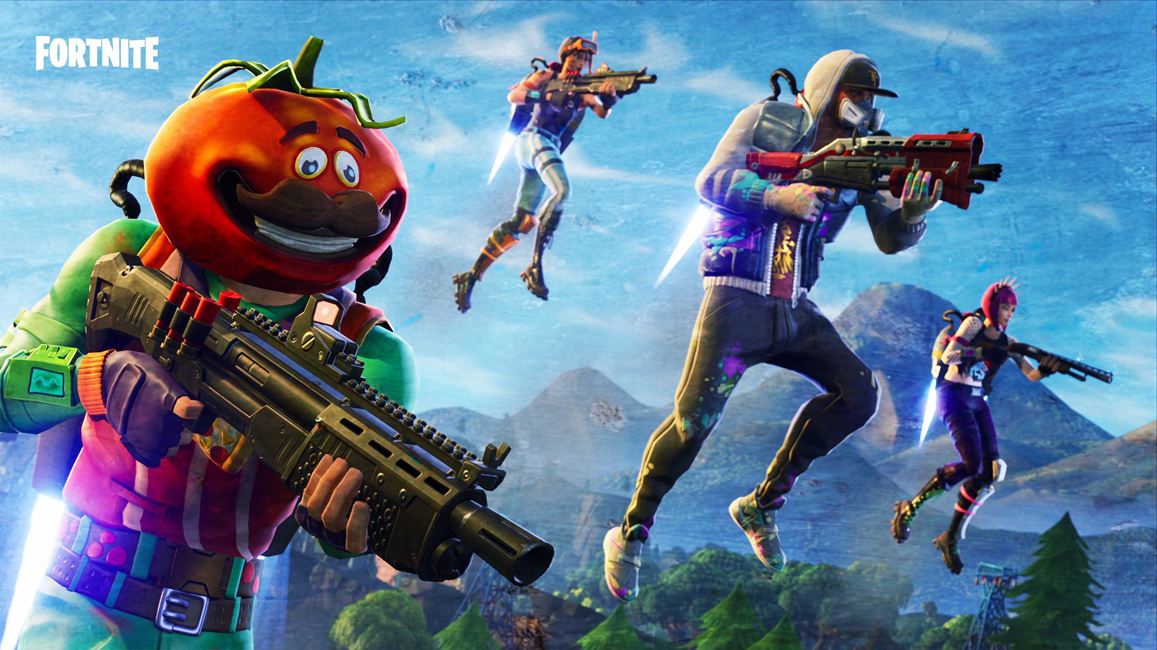 Desktop Wallpaper 2018 Video Game Fortnite Art Hd: Fortnite 2018 Game Wallpaper