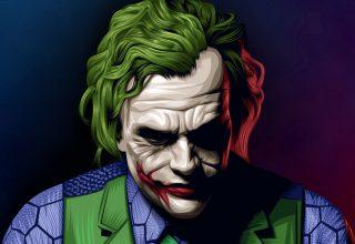 Joker Heath Ledger Illustration Wallpaper