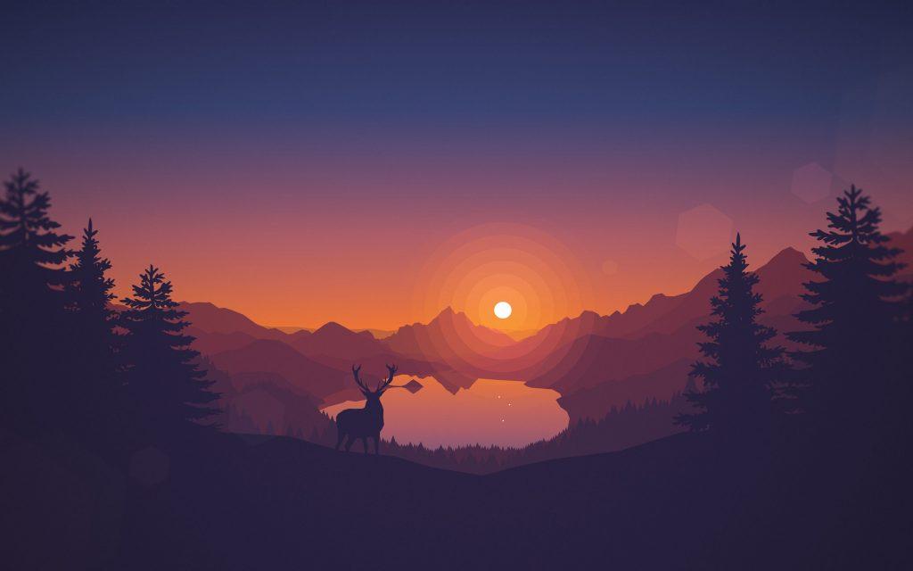 Lakeview Sunset 4k Wallpaper