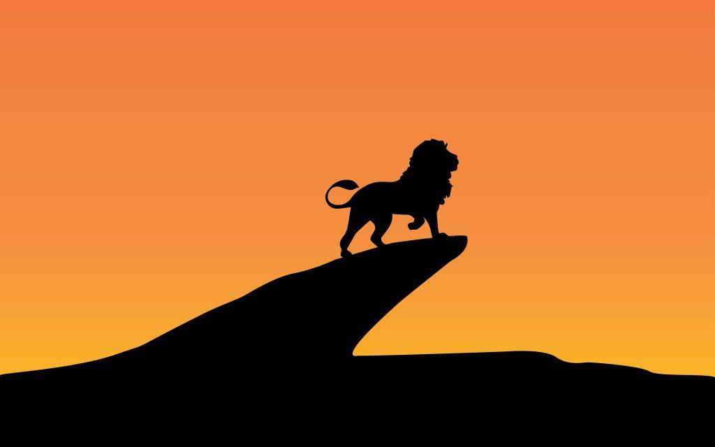 Lion King Silhouette Minimal Wallpaper