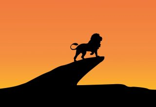 Lion King Silhouette Minimal Wallpaper