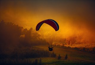 Parachuting Landscape Nature Wallpaper