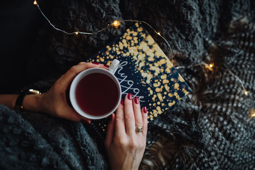 Tea Book Hands Wallpaper