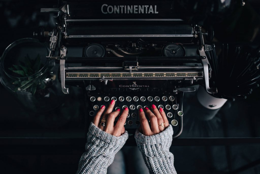 Typewriter Hands Manicure Wallpaper