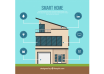 دانلود وکتور Smart home background with device
