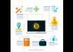 دانلود وکتور Blockchain infographic in flat style