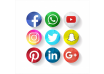 دانلود وکتور Creative Social Media Icons Facebook