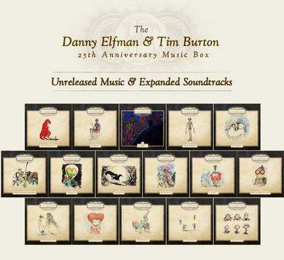 دانلود موسیقی متن فیلم The Danny Elfman & Tim Burton 25th Anniversary Music Box (17 CD) – توسط Danny Elfman